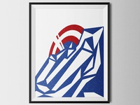 Captain America screen print poster