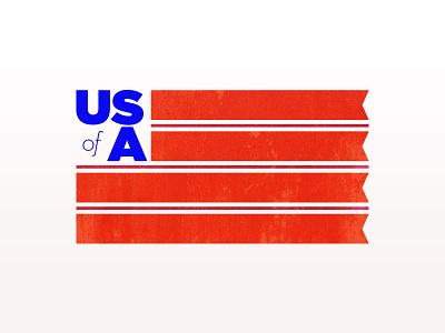 USA flag typography usa saturation