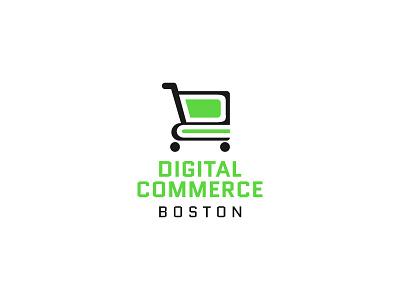 Digitial Commerce Logo ecommerce event negativespace logo