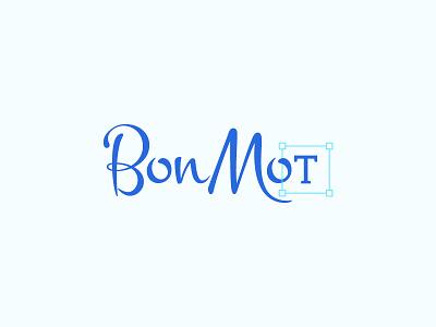 BonMot Logo script font typography logo