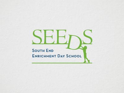 Seeds Logo naming nature green serif typography education identity logo branding