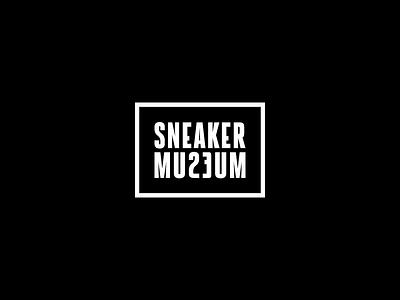Sneaker Museum Logo fashion basketball michaeljordan sneakers identity logo blackandwhite typography