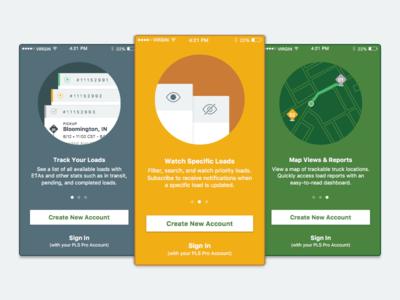 Intro Screens  circles appdesign flatui travel intros tutorial ios