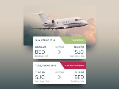 Trip Cards clouds gradient cards luxury destinations trips flight jets travel