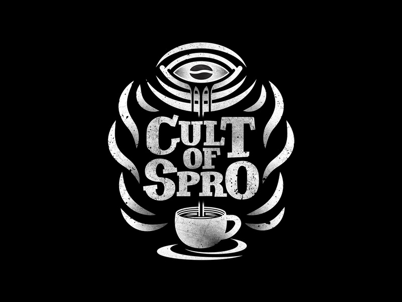 Cult of Spro bean cult drip spro espresso eye illuminati illustration design coffee