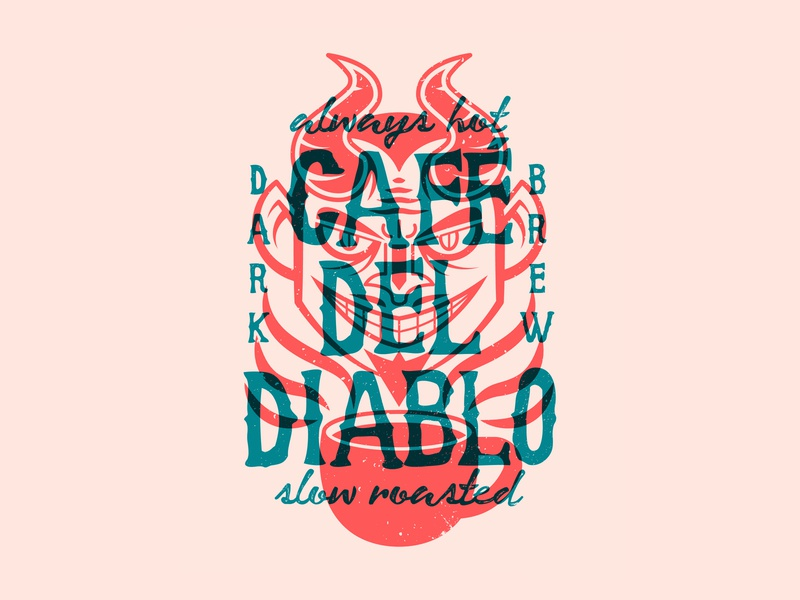 Dark Roasted satan hell hot espresso cult roasted horns brew dark cafe diablo devil coffee
