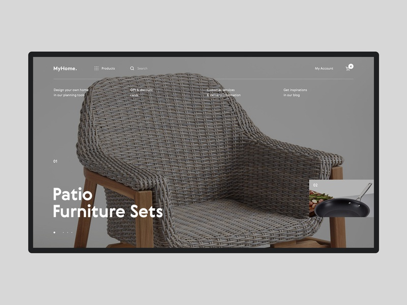 MyHome  #1 design interface ui ux website interior product shopping furniture ecommerce store shop