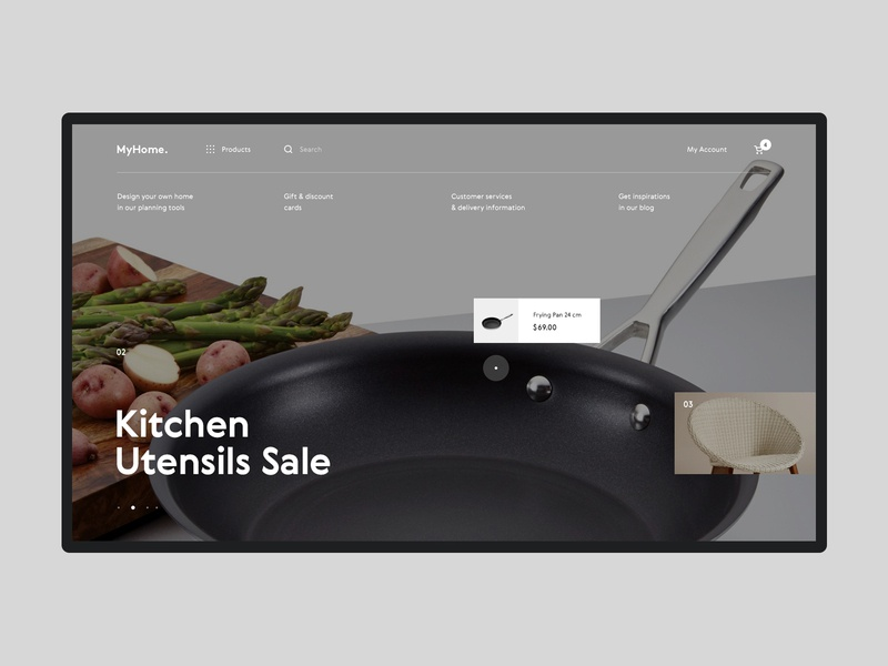 MyHome  #2 shop store ecommerce furniture shopping product interior website ux ui interface design