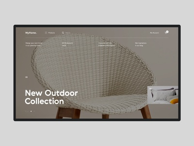 Myhome  #3 shop store ecommerce furniture shopping product interior website ux ui interface design
