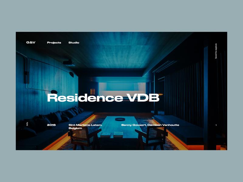 Govaert & Vanhoutte Architects #4 clean minimal project website web ux ui interface interaction grid design typogaphy portfolio concrete concept architects architechture