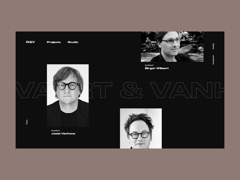Govaert & Vanhoutte Architects #5 stroke team about us website web ux ui typogaphy project portfolio minimal interface interaction grid design concrete concept clean architects architechture