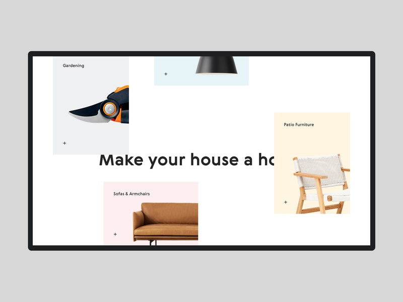 Myhome #5 house home grid white website ux ui store shopping shop product minimal interior interface furniture ecommerce design app clean