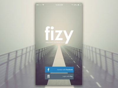 Music App Concept Welcome Screen - Fizy