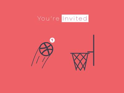 👏 Dribbble Draft Day 🎉 1 Invite 😱