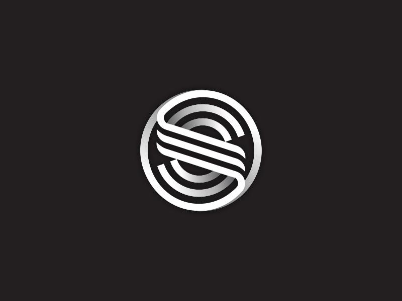 S Logo symbol simple monogram mark logotype logo line letter identity icon design s