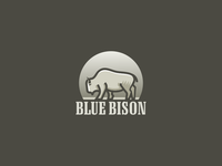 Blue Bison - gray version