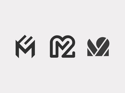 M2 number two m typography logotype monogram letter line identity icon mark logo