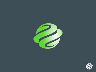 Green Planet cosmos design identity icon simbol logo simple universe space planet green earth