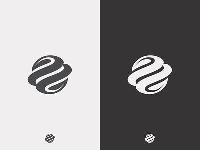 Green Planet B/W cosmos universe space earth planet identity mark logotype design simple symbol icon logo