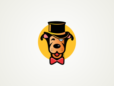 Dog Mascot design character illustraion mascot cartoon dog