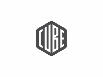 Cube typography typeface typedesign type simbol simple mark logotype line letters identity icon font design cube