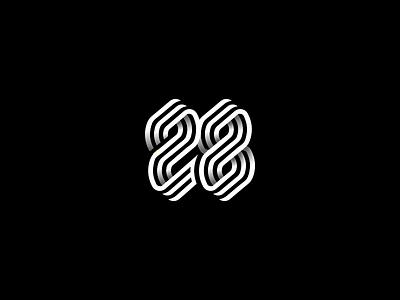 28 identity symbol monogram logo typeface mark typedesign font logotype typogaphy monogram design number letter line twenty-eight icon 28 8 2