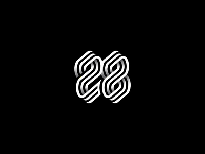 28 identity symbol monogram logo typeface mark typedesign font logotype typogaphy monogram design number letter line twenty-eight icon 28 8 2