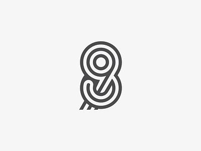 89 98 simple symbol identity icon mark logo typogaphy typeface typedesign number monogram logotype line letter font 8 9 98 89