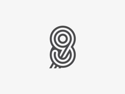 89 98 simple symbol identity icon mark logo typogaphy typeface typedesign number monogram logotype line letter font 8 9 98 89