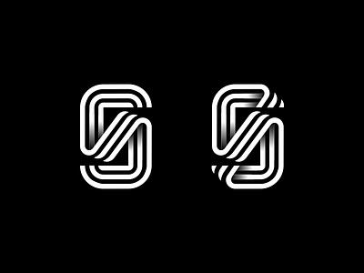 Lettermark S typogaphy typedesign simbol typeface monogram logotype logo mark lines line letter s identity icon font lettermark