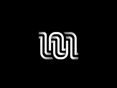 m or nu logotype typeface design typedesign lettermark nu m typeface typography monogram letter line symbol identity icon mark logo