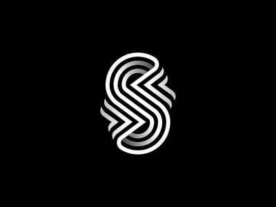 S Letter typogaphy typeface typedesign symbol monogram mark logotype logo lines line lettermark letter identity icon font