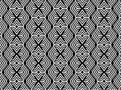 Black and White Pattern x vector fabric design cloth textile black  white line art lines line 2d 3d