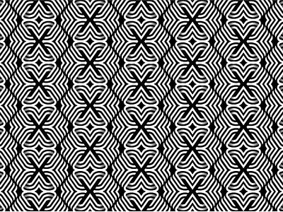 Black and White Pattern x vector fabric design cloth textile black  white line art lines line 2d 3d