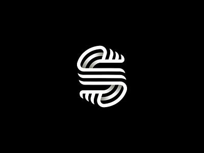 S Lettermark typography monogram mark icon letter symbol logotype line vector logo