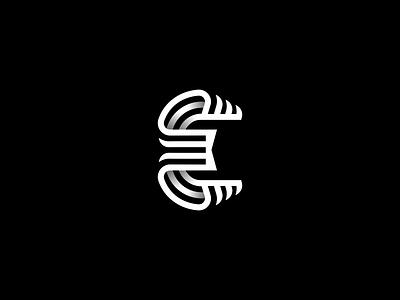 E Lettermark lettermark appicon typogaphy typeface typedesign symbol monogram mark logotype logo line letter identity icon font