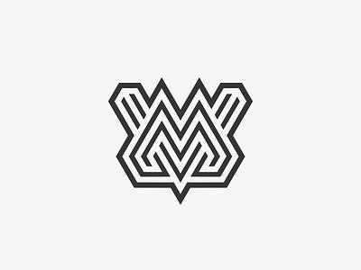 MV typogaphy identity symbol mark logotype logo line letters lettermark monogram