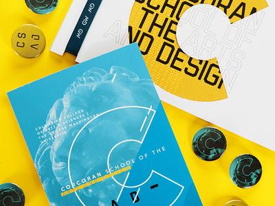 Corcoran Graduate and Undergraduate Brochures design higher ed corcoran education school brochure print