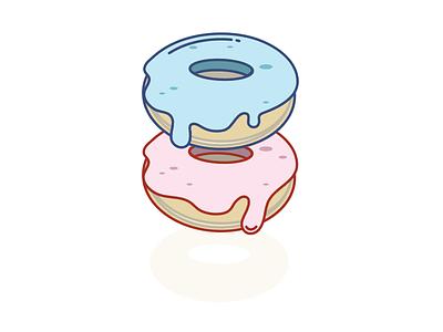 Donuts dessert sweets donuts illustration