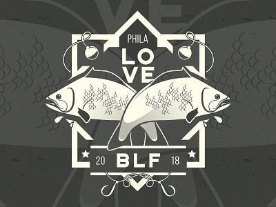 Brotherly Love Fishing Logo badge bass fishing logo