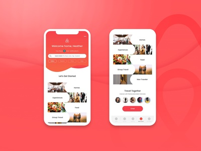 Travel Together Airbnb Group Chat invision sketch product design ux-ui design chat travel airbnb
