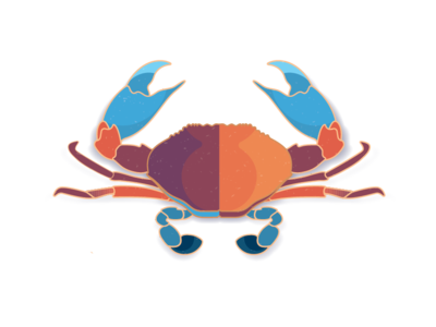 Maryland Crab old bay maryland crab design illustration