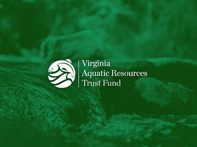 Virginia Aquatic Resources Trust Fund Logo logo print design branding logos logo design