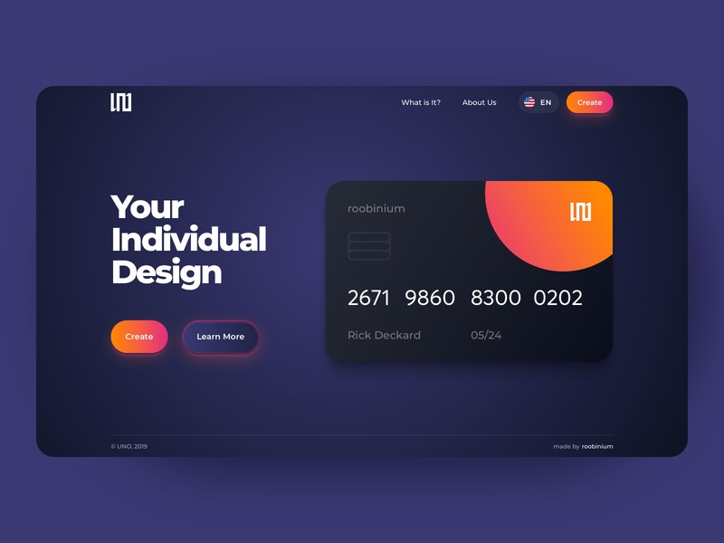 Card Design Concept craft number bankcard bank banking finance balance card pages colors desktop concept crypto neon darkmode interface webdesign productdesign uxdesign uidesign