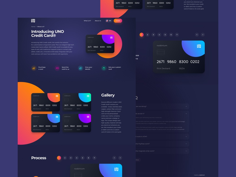 Card Design Landing Page craft number bankcard bank banking finance balance card pages colors desktop concept crypto neon darkmode interface webdesign productdesign uxdesign uidesign