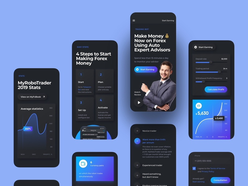 Trading Bot Landing Page Mobile UI Map menu header crypto design cryptocurrency fintech finance crypto trading ui map neomorfism dark ui dark mode langing landing page mobile application app ux design ui design interface