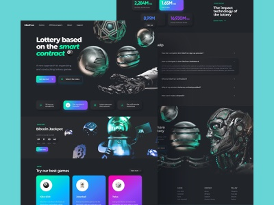 crypto lottery platform home page desktop dark neumorphism cyberpunk smart contract online gambling jockerball lotto play lotto casino gambling cryptocurrency lottery neumorphism dark desktop home page platform csgo crash vinocosta ilyaddkv crypto design roobinium