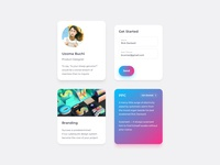 UI Cards for Services Landing Page