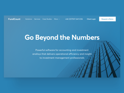 Investment Analysis Soft Landing Page