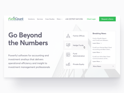 Accounting & Investment Landing Page
